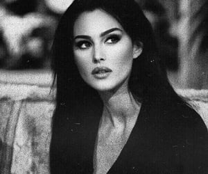 monica bellucci, beauty, and black and white image