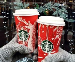 coffee, holidays, and starbucks image