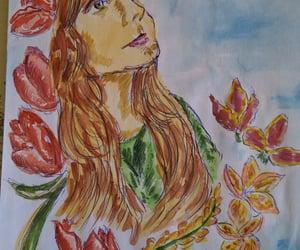 art, aquarelle, and drawing image