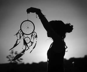 shadows, dreamcatcher, and girl image