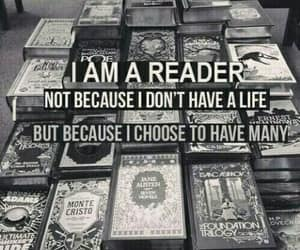 books, reader, and bookworm image