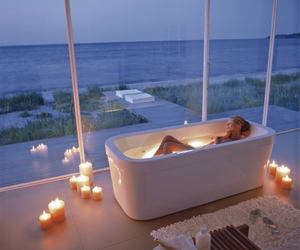 bath, relax, and candle image