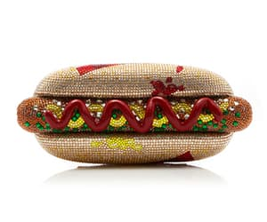 hot dog and glitter image