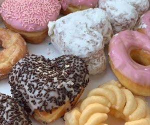 donuts, aesthetic, and food image