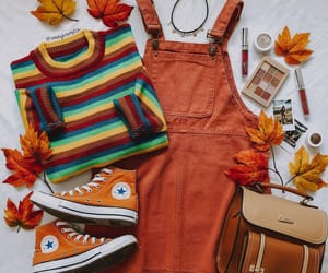 stripes, converse, and orange image
