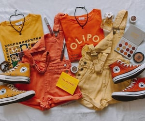 converse, orange, and outfits image
