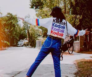 blue, colored jeans, and kodak image