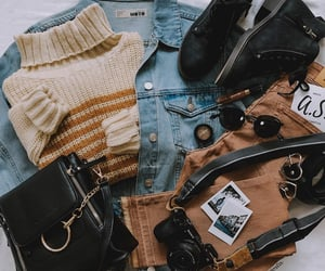 beige, black, and outfits image