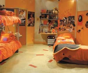 bedroom, orange, and y2k image