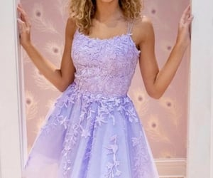dress, evening dress, and Prom image