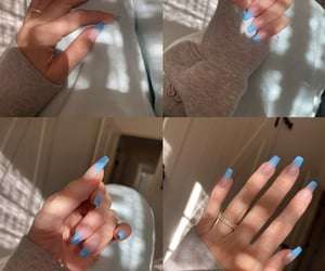 acrylics, blue, and katy image