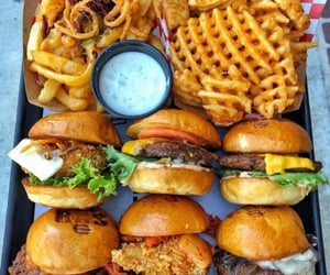 burger, yummy, and fast-food image
