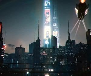 city, cyberpunk, and nightlife image