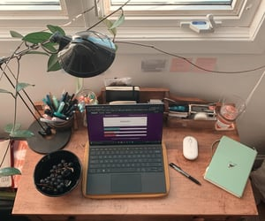 notebook, room, and study image