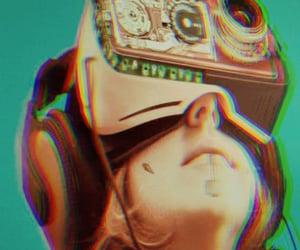 cyberpunk, green, and machine image