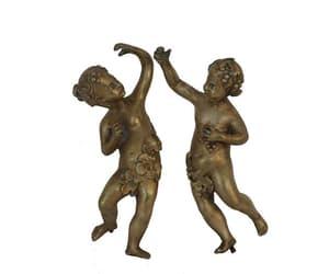 etsy, antique bronze, and cherub figurine image