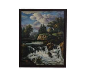 french art, landscape art, and river painting image