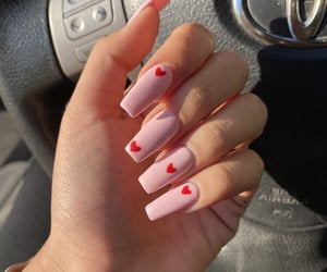 beauty, heart, and nails image
