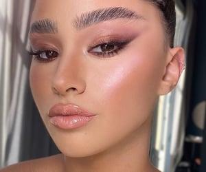 blush, makeup artist, and eyeliner image