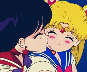 sailor moon, sailor mars, and rei hino image