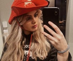blonde, girl, and hoodie image
