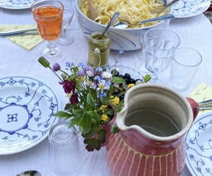 aesthetic, lunch, and table set image