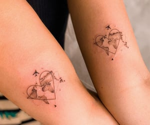 ink, heart, and tatto image