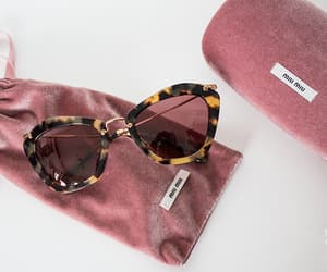sunglasses, fashion, and miu miu image
