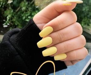 yellow and nails image