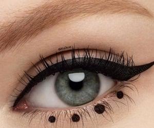 dots, make-up, and eyeliner image