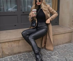 clothes, camel coat, and fashion image
