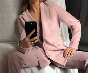 fashion, pink, and suit image