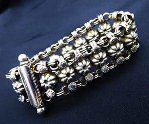 etsy, floral design, and chain bracelet image