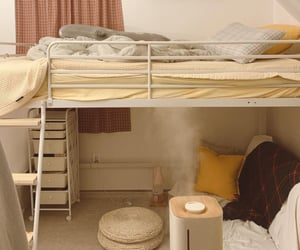 bed, beige, and blanket image