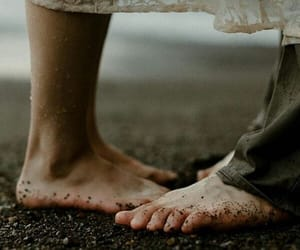 barefoot, feet, and couple image