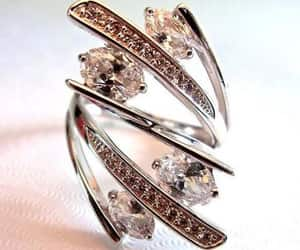 cocktail ring, rhodium plating, and ca sterling ring image