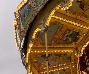 amusement, art, and carousel image