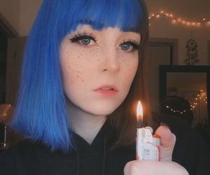 aesthetic, grunge girl, and split dye image