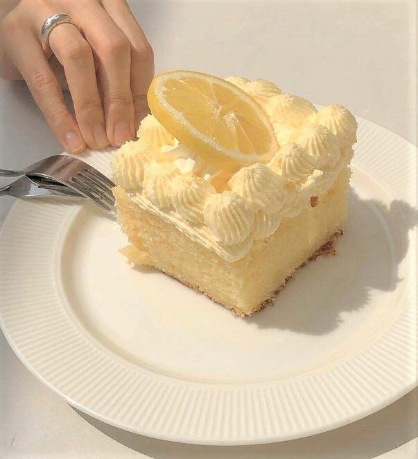 yellow, aesthetic, and cake image