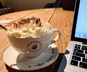 coffee shop, laptop, and photography image