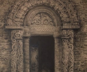door, drawing, and gate image
