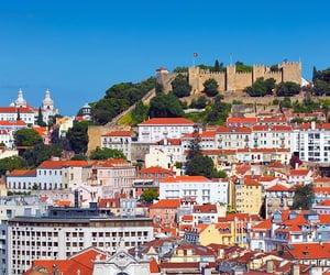 lisbon, portugal, and castelo de são jorge image