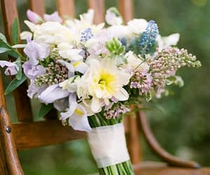 daffodils, bouquet, and flowers image