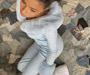 beauty, faux fur, and girls image