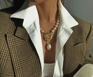 fashion, chanel, and pearls image