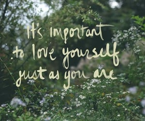 quotes, nature, and love yourself image