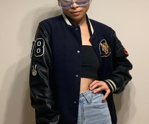 fashion, jacket, and purse image