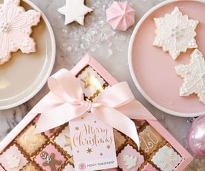 Cookies, pink, and holidays image