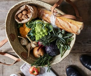 basket, food, and french image