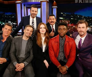 Avengers, chris hemsworth, and chadwick boseman image